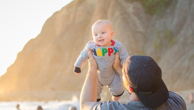 Beach baby portrait
